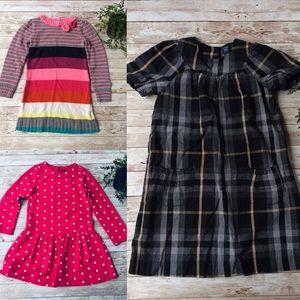 3 Girls Dresses Size 5T Gap & H&M